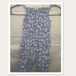Other - Infant girls blue/white butterfly design jump suit